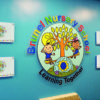 Nursery welcome display with photo pockets