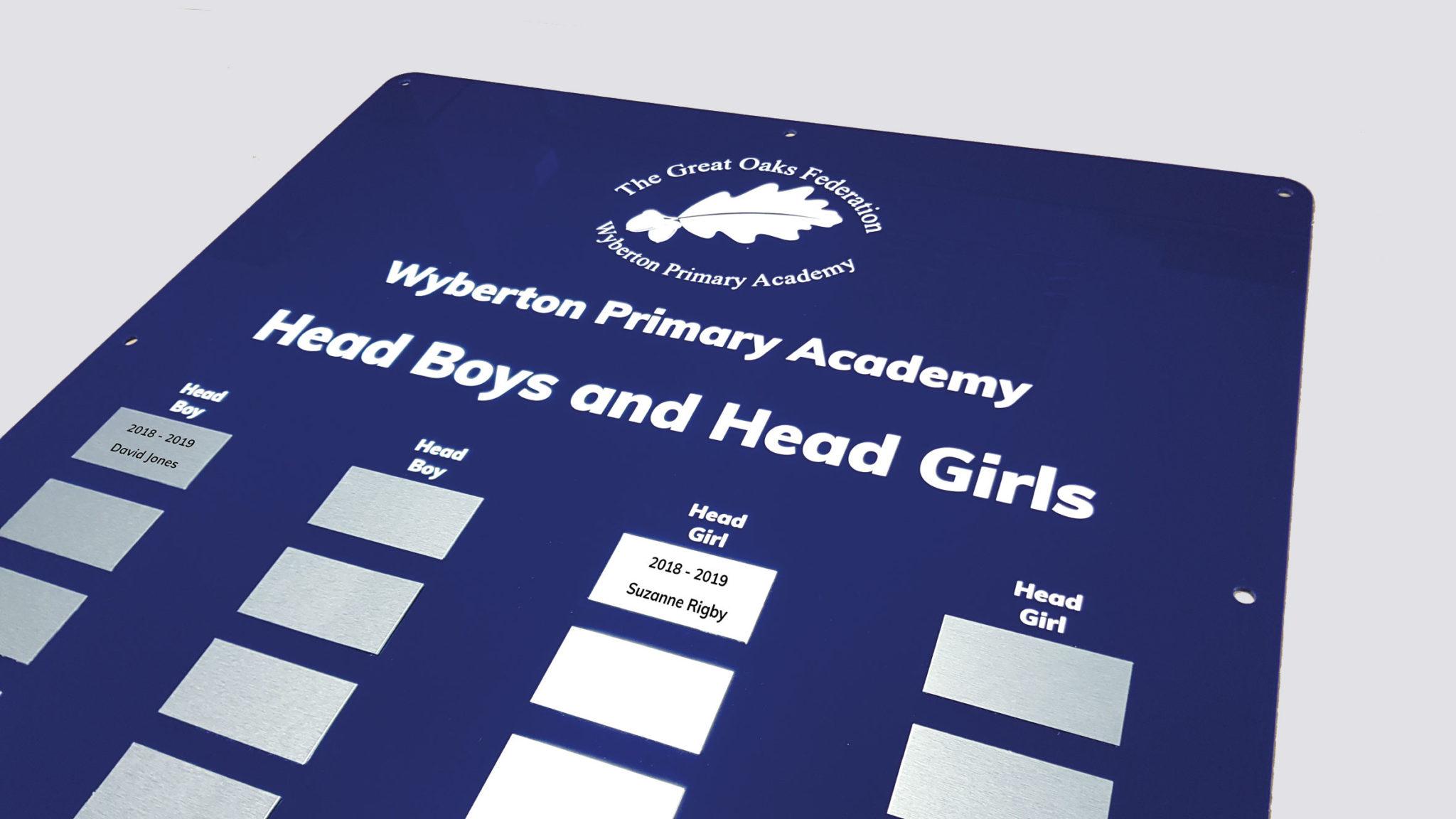Acrylic-school-award-board